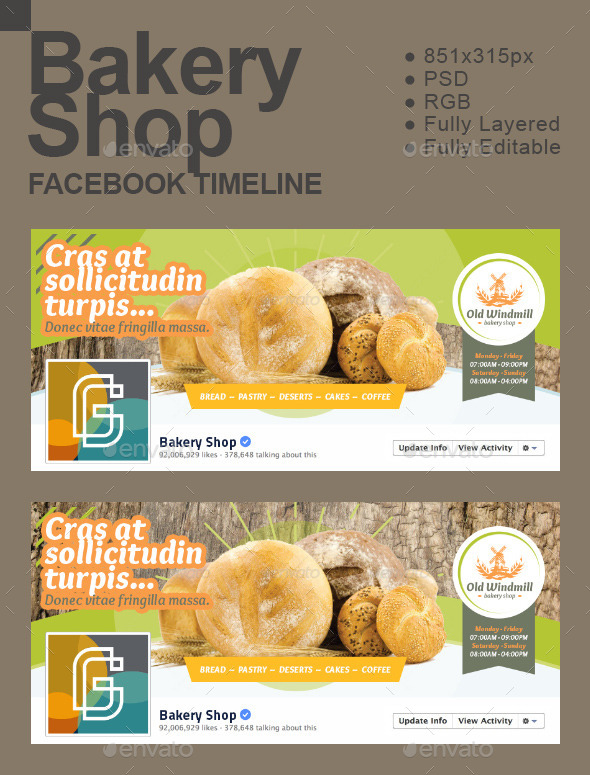 GraphicRiver Bakery Shop Timeline 11855216