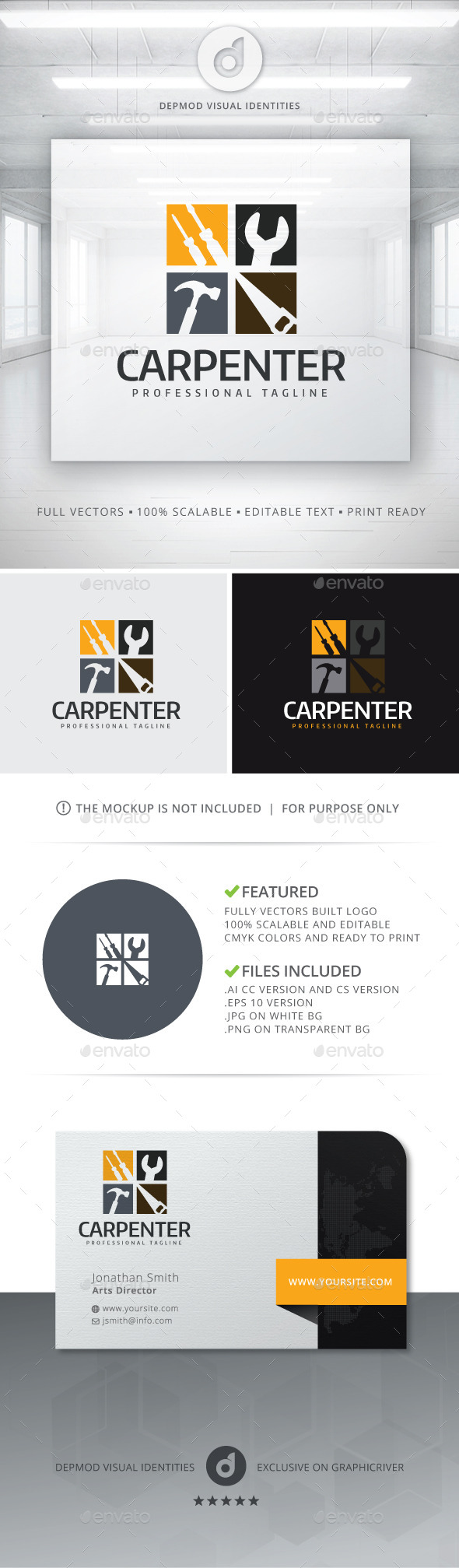 GraphicRiver Carpenter Logo 11855355