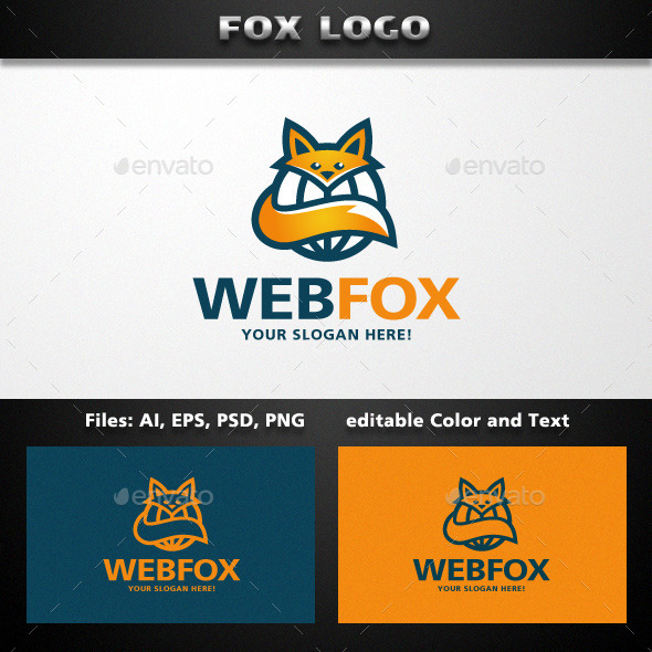 GraphicRiver Fox Logo Template 11855443