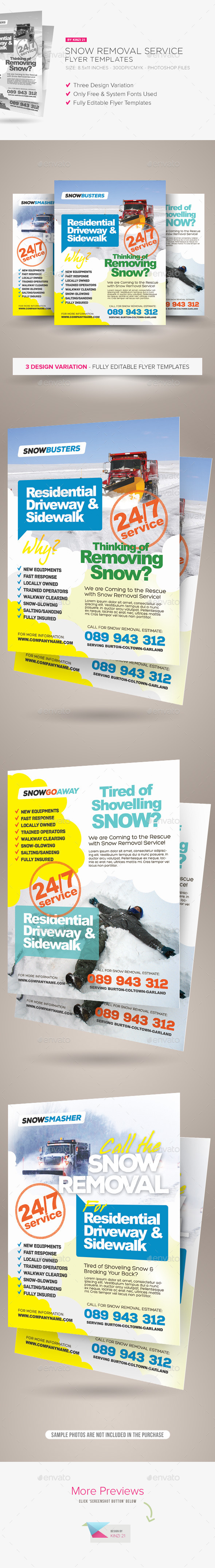 GraphicRiver Snow Removal Service Flyers 11855534