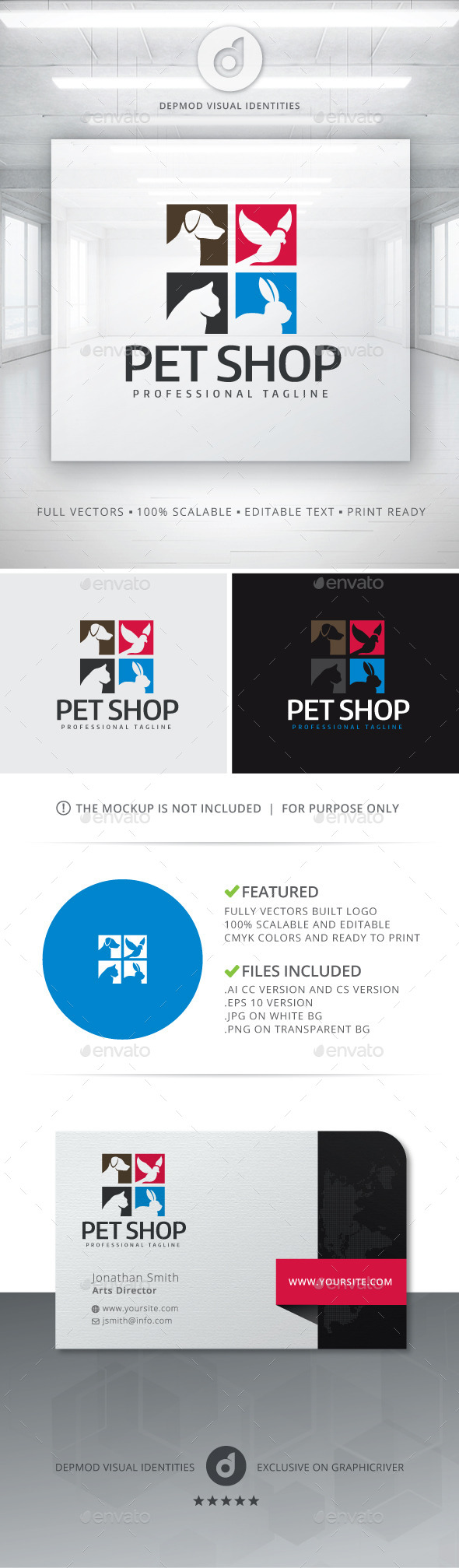 GraphicRiver Pet Shop Logo 11855830