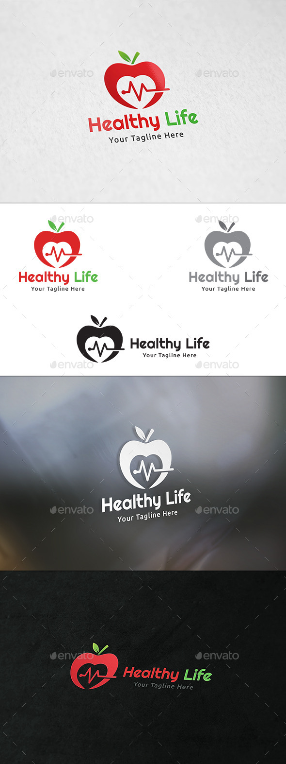 GraphicRiver Healthy Life Logo Template 11855834