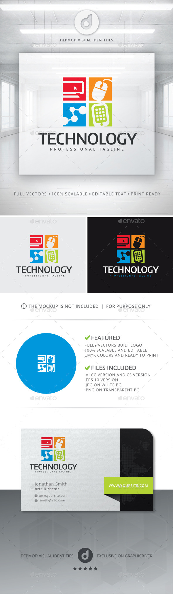 GraphicRiver Technology Logo 11856087