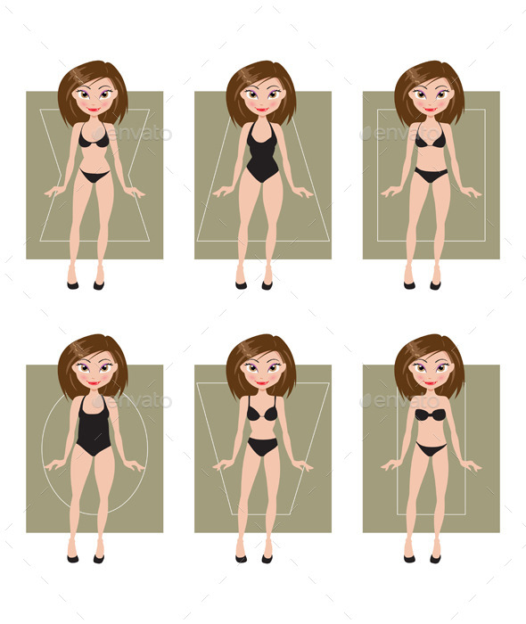 GraphicRiver Female Body Types 11852175