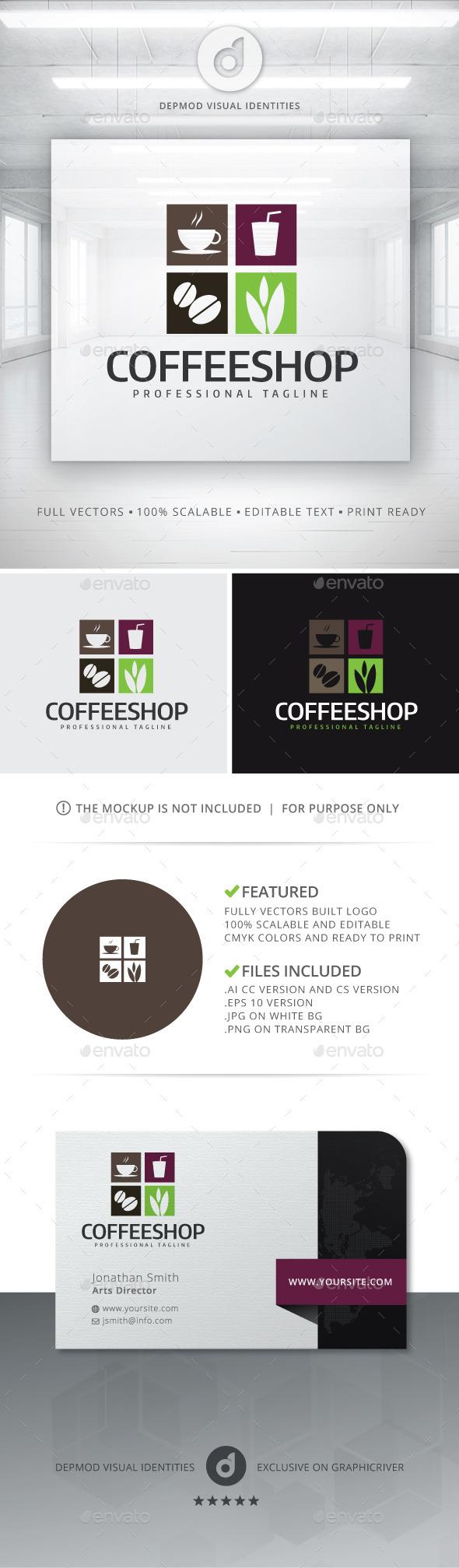 GraphicRiver Coffee Shop Logo 11856265