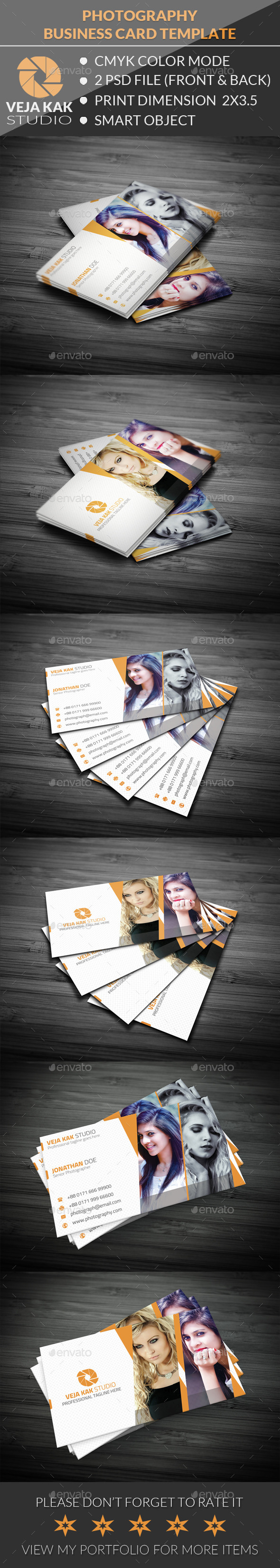 GraphicRiver Photography Business Card 11857255