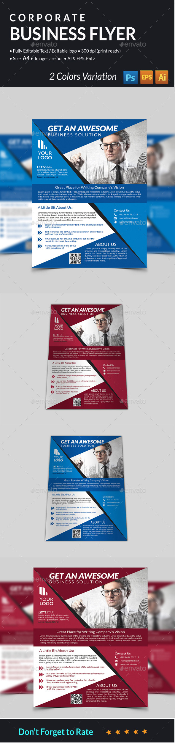 GraphicRiver Corporate Business Flyer 11857317