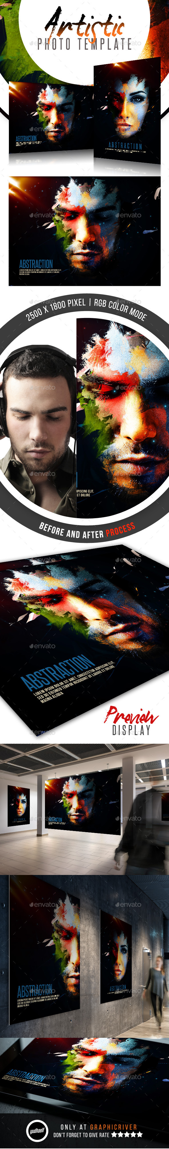 GraphicRiver Abstraction Artistic Photo Template 11788929