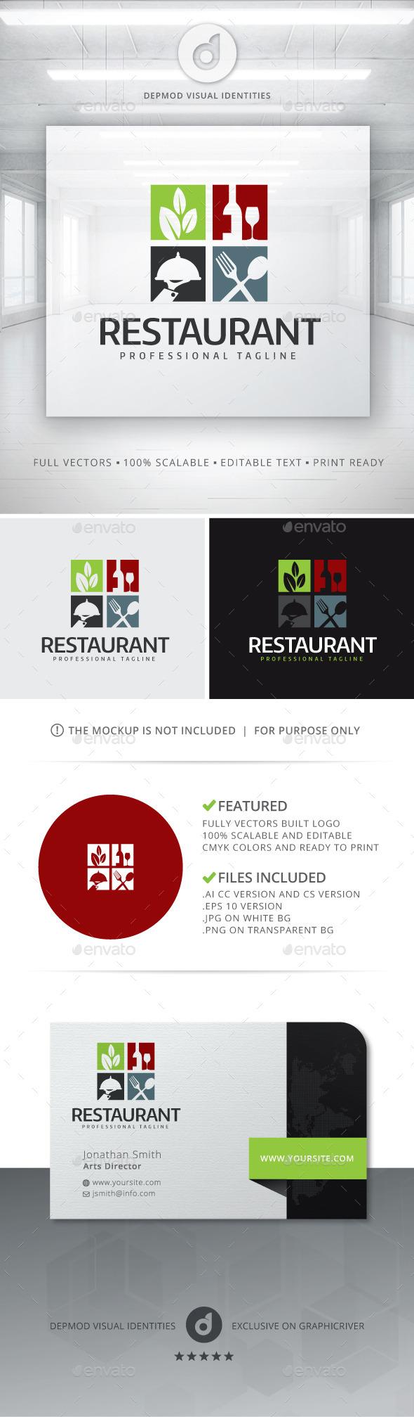 GraphicRiver Restaurant Logo 11857377