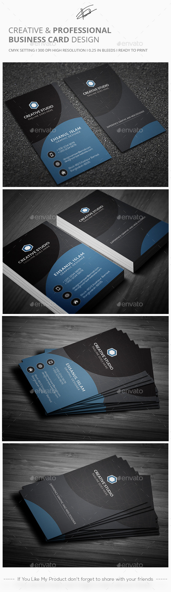 GraphicRiver Creative & Professional Business card 11857496