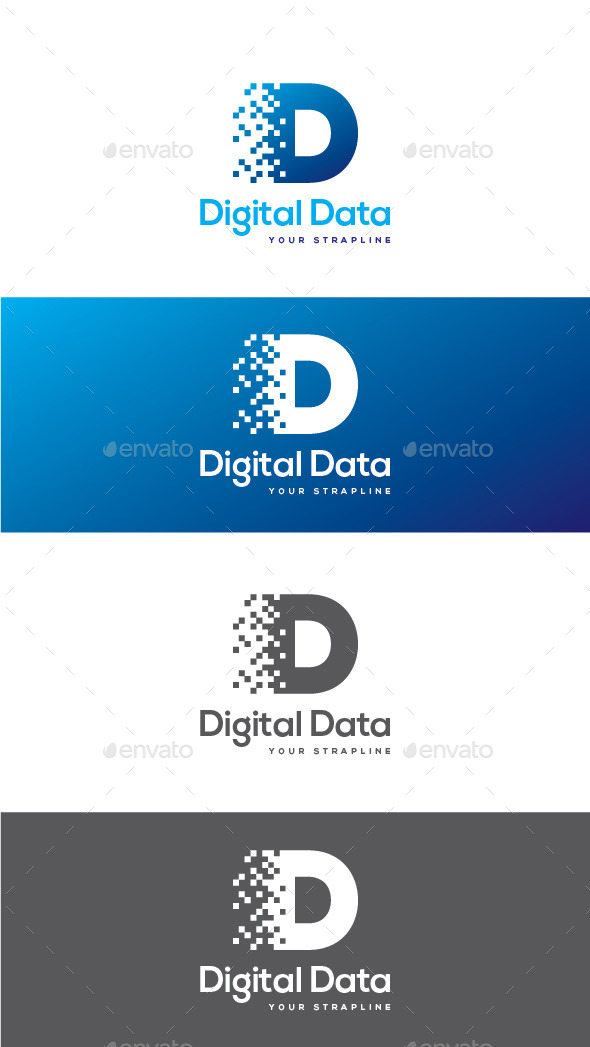 GraphicRiver Digital Data Letter D Logo 11857614