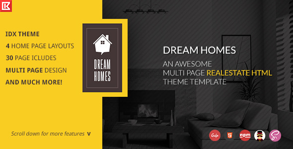 ThemeForest Dream Home Multipage Realestate Html Template 11857866