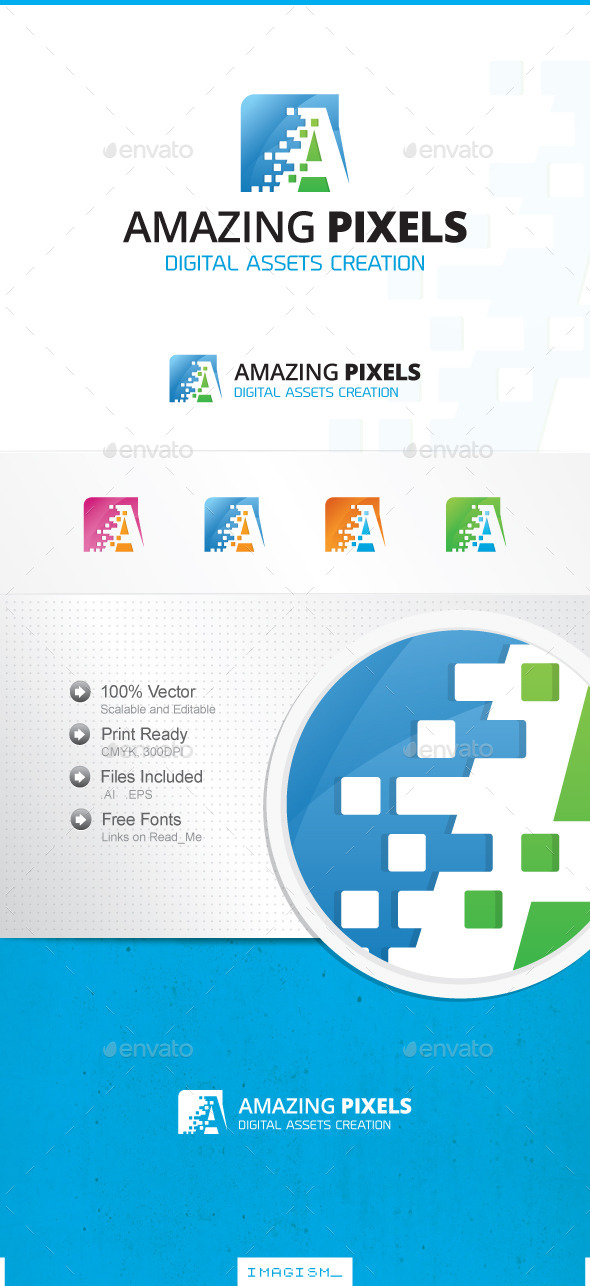 GraphicRiver Amazing Pixels Logo 11858143