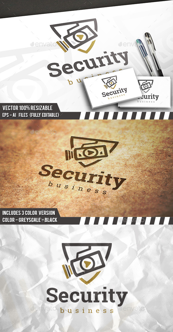GraphicRiver Security Camera Logo 11858147