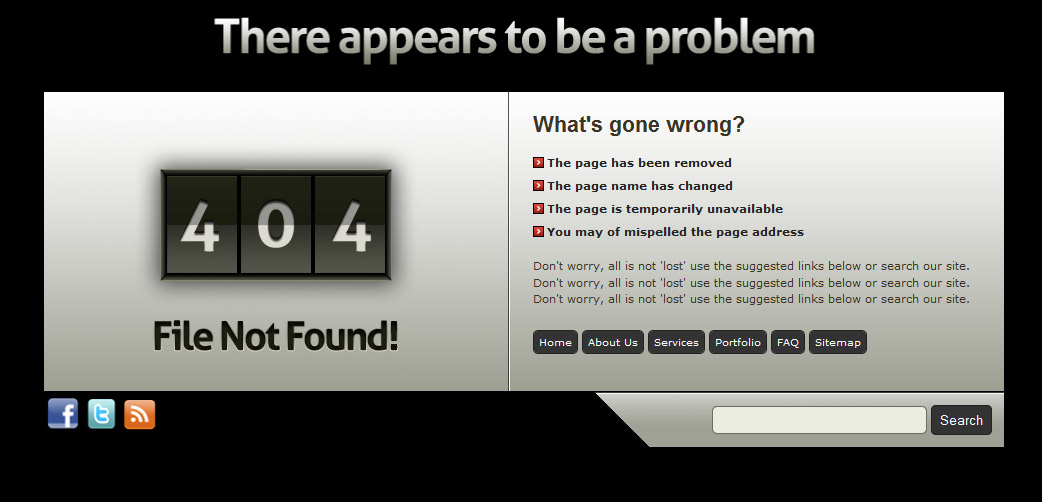Stylish grunge custom error pages