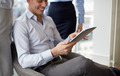 business team working with tablet pc in office - PhotoDune Item for Sale