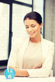 businesswoman with clock - PhotoDune Item for Sale