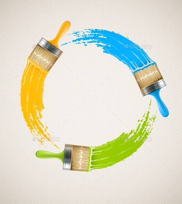 GraphicRiver Brushes with Paint Drawing Circle 11858614