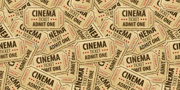 GraphicRiver Seamless Pattern Background of Cinema Tickets 11858670