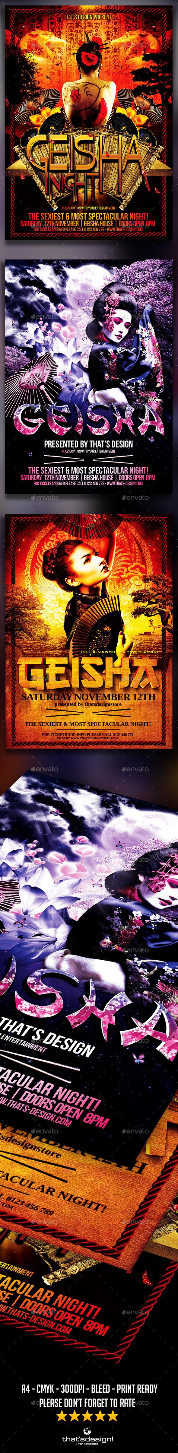 GraphicRiver Geisha Party Flyer Bundle 11859047