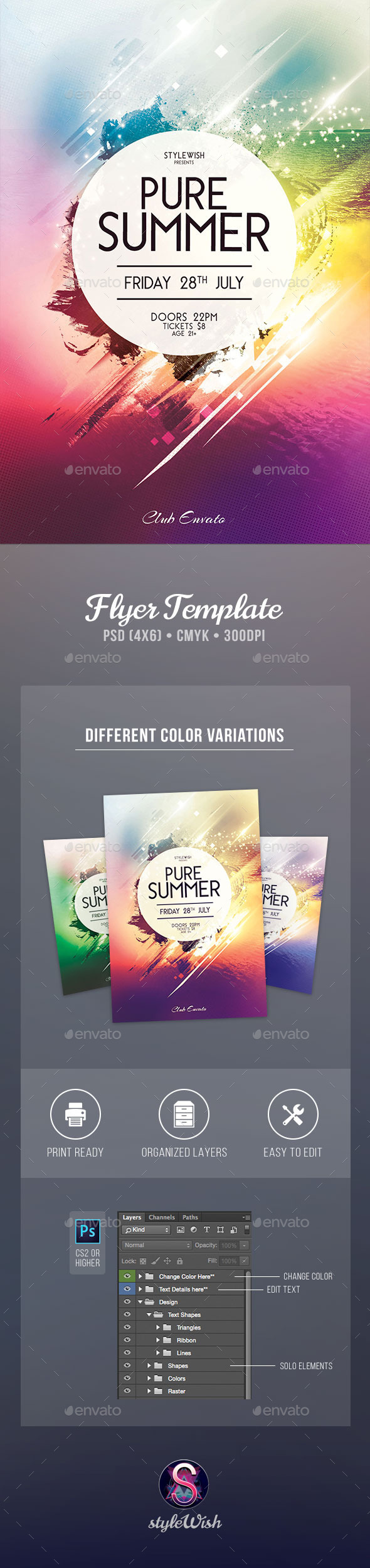 GraphicRiver Pure Summer Flyer 11859496