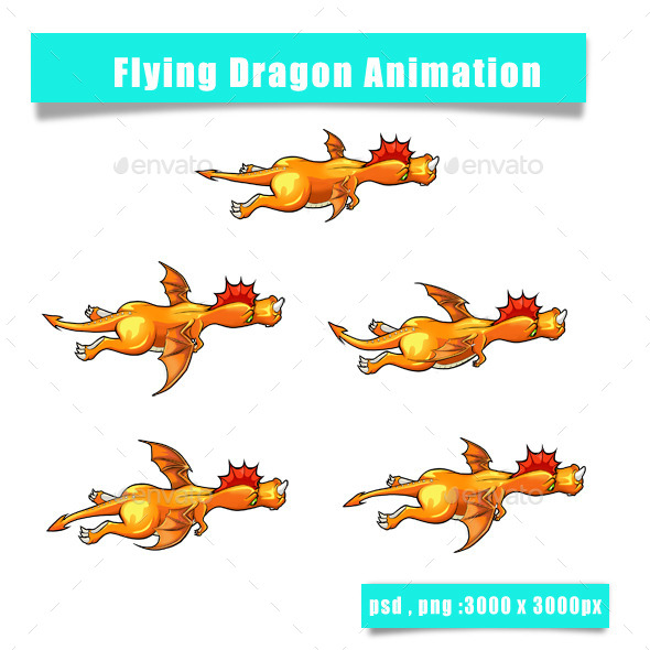 GraphicRiver Dragon Sprite 11859574