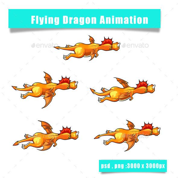 GraphicRiver Dragon Sprite 11859574