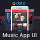 Mobile Music App UI Kit - HD - GraphicRiver Item for Sale