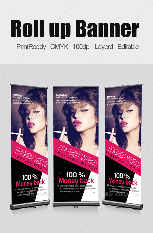 GraphicRiver Fashion Roll Up Banners Template 11860027