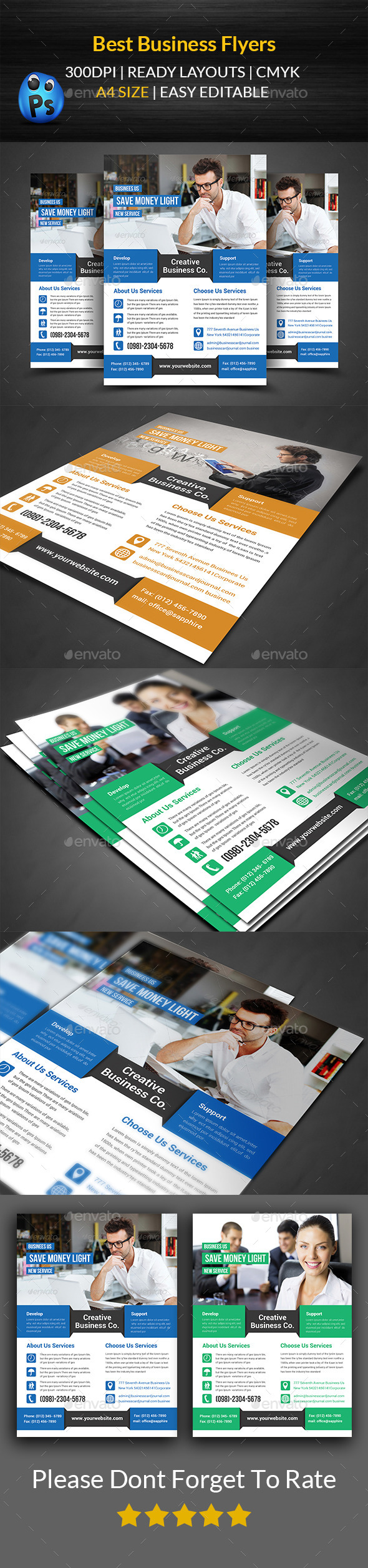 GraphicRiver Best Business Flyers Templates 11860078
