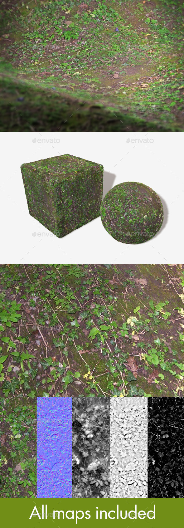 Jungle Ground Seamless Texture - 3DOcean Item for Sale