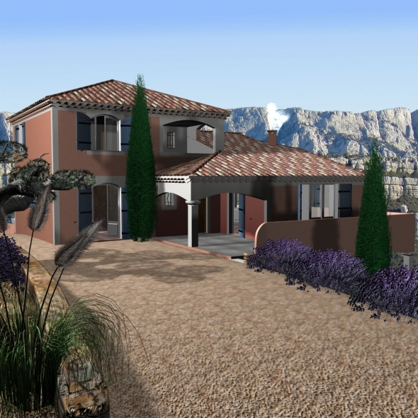 3DOcean Villa from south of France 11860231