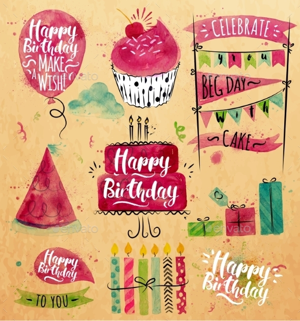 GraphicRiver Birthday Set 11860284