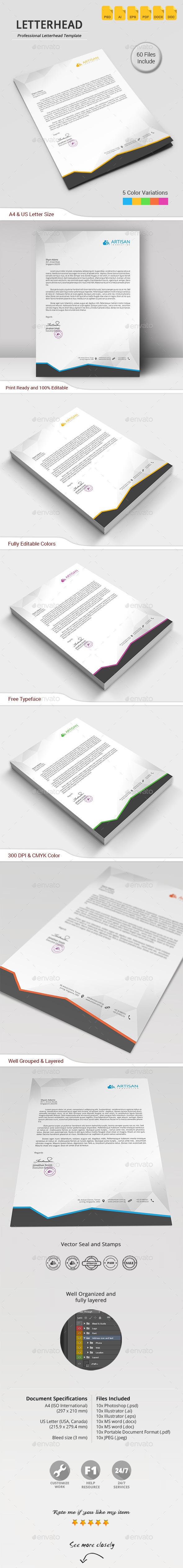 GraphicRiver Letterhead 11860295
