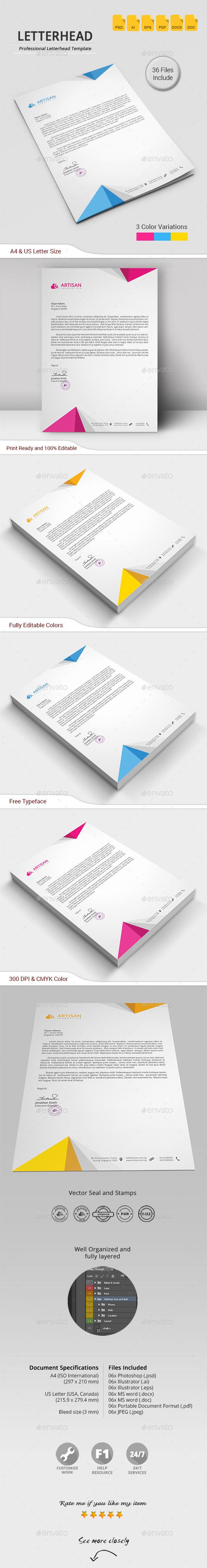 GraphicRiver Letterhead 11860462