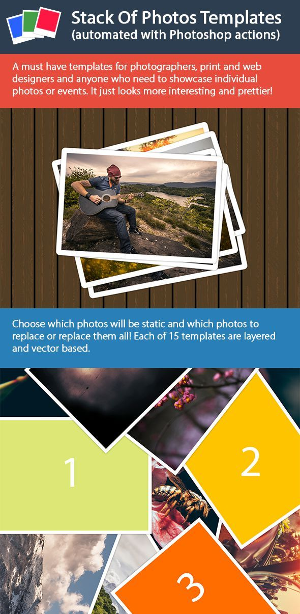 GraphicRiver Stack Of Photos Templates 11860824
