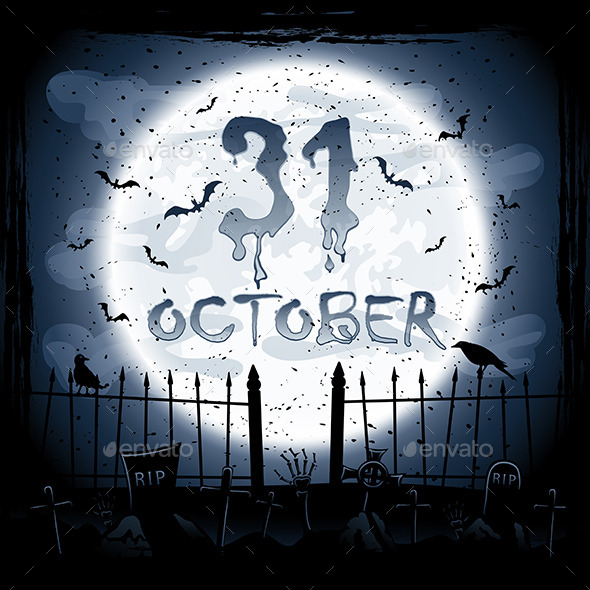 GraphicRiver Halloween Scene 11860836