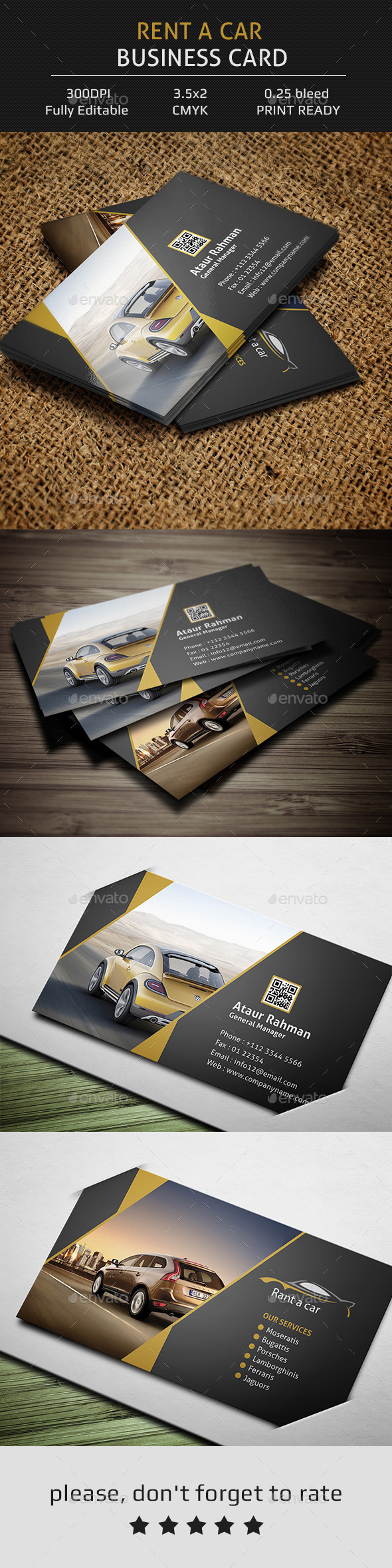 GraphicRiver Rent a Car Business Card 11861197