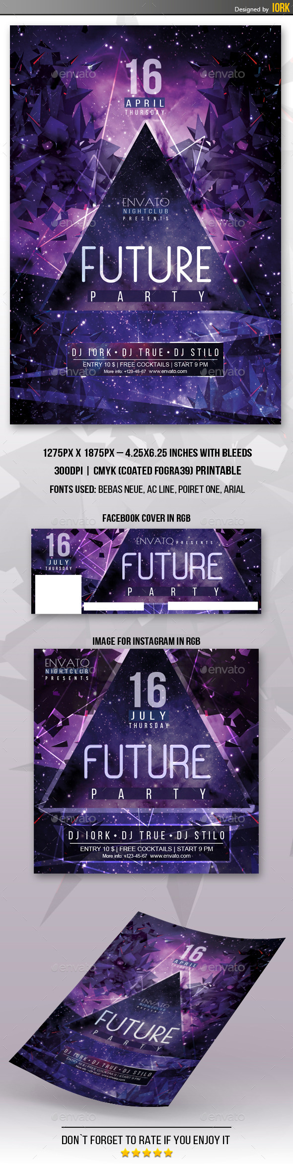 GraphicRiver Future Party Flyer 11861268
