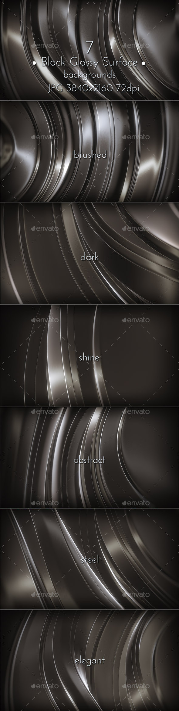 GraphicRiver Black Metal Glossy Backgrounds 11861342