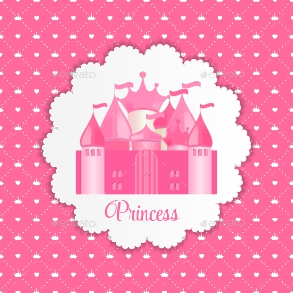 GraphicRiver Princess Background with Castle 11861440