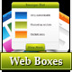 Web boxes in 5 colors
