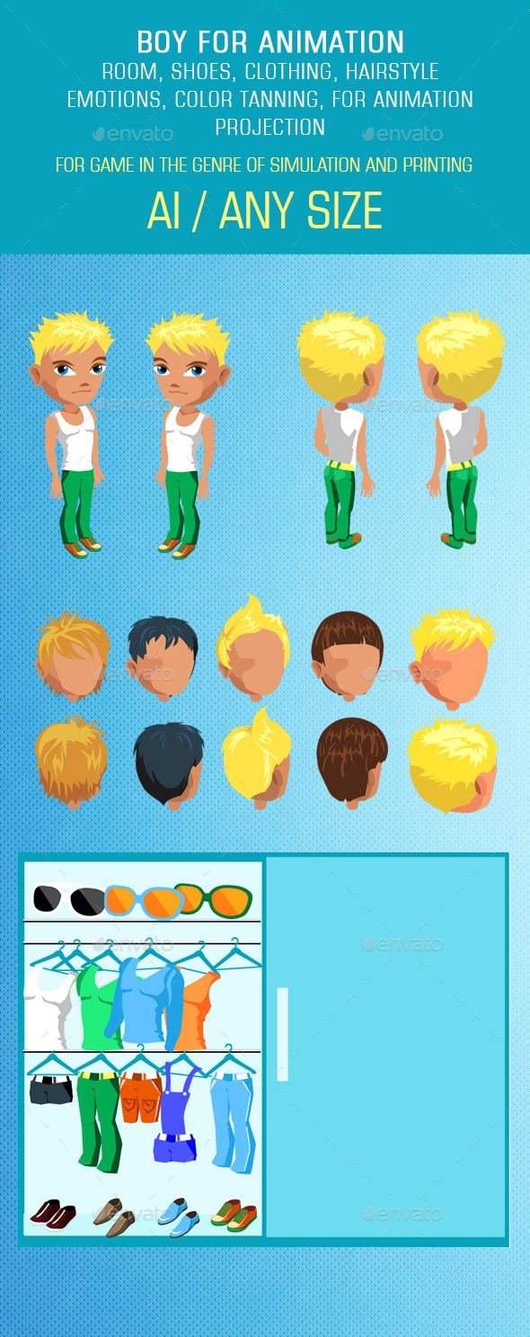 GraphicRiver Man Mix and Match Character Pack 11861664