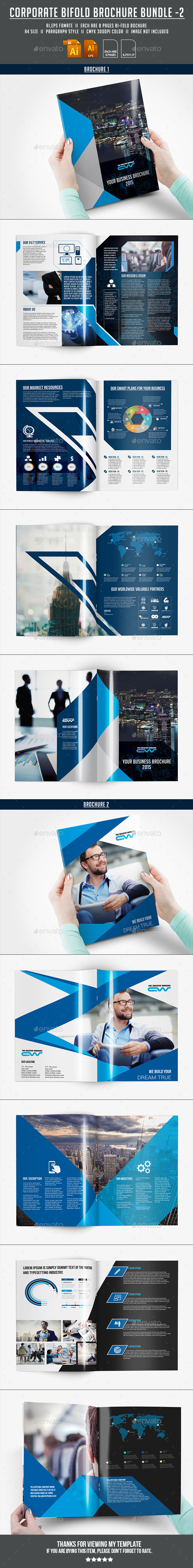 GraphicRiver Corporate Bifold Brochure Bundle 02 11861684