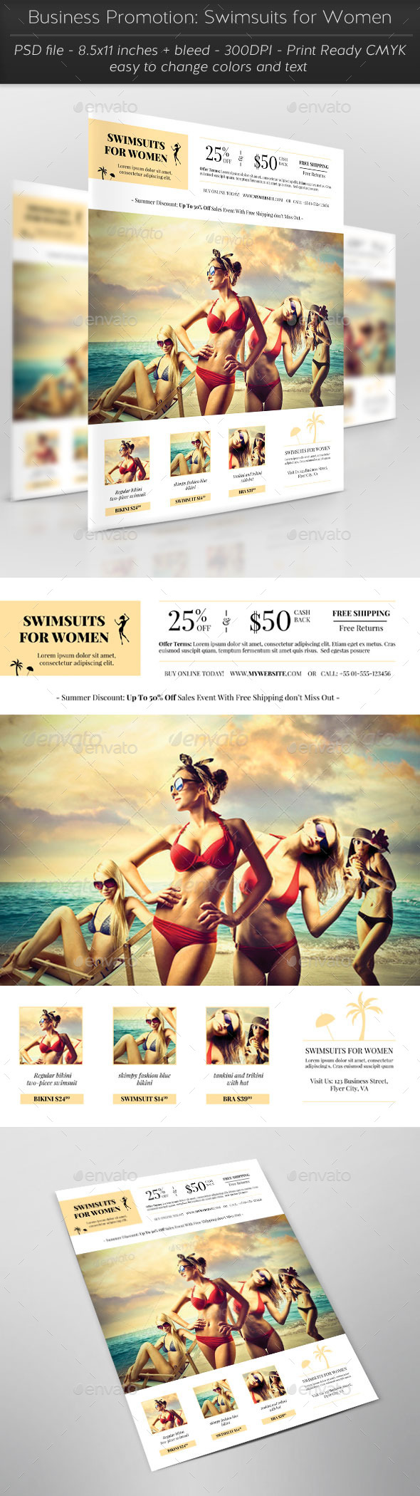GraphicRiver Business Promotion Swimsuits for Women 11861693