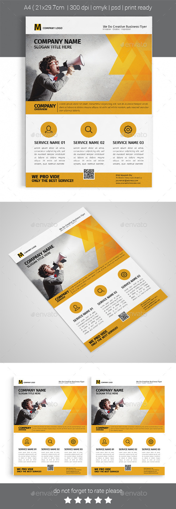 GraphicRiver A4 Corporate Business Flyer Template Vol 04 11862761