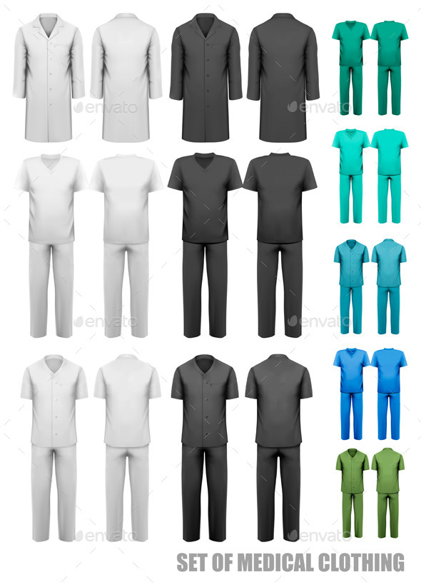 GraphicRiver Set Of Medical Clothes Design Template Vector 11862917