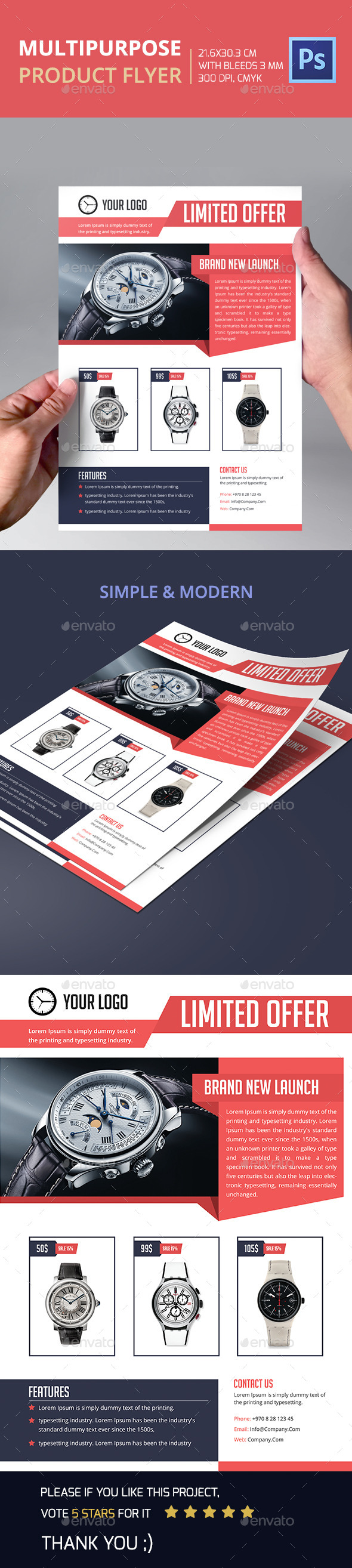 GraphicRiver Multipurpose Product Flyer 11863099