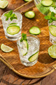 Refreshing Ice Water with Lime