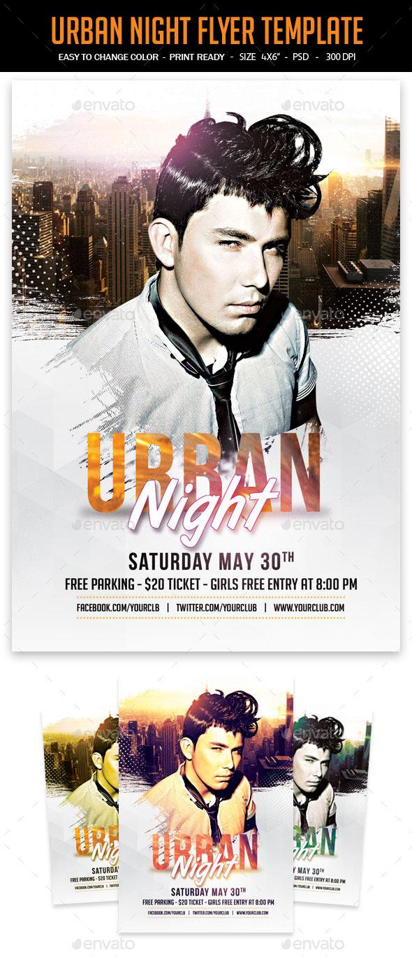 Urban Night Flyer Template